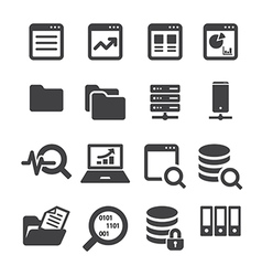 Data icon set vector