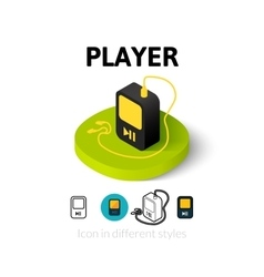 Player icon in different style vector