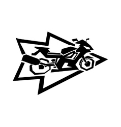 Motorcycle label badge  black icon and moto vector