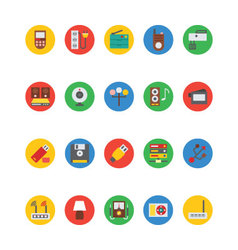 Electronics icons 7 vector