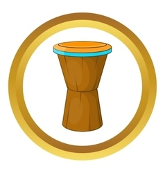 African drum icon vector