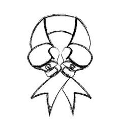 breast cancer campaign symbol vector image vector image