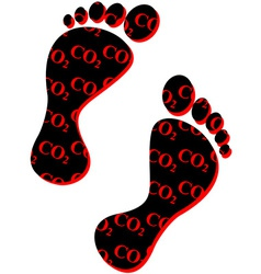 Carbon footprint vector