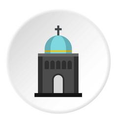 church icon circle vector image vector image