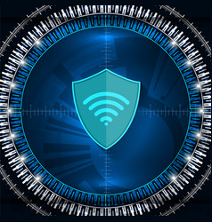 cyber digital shield vector image vector image
