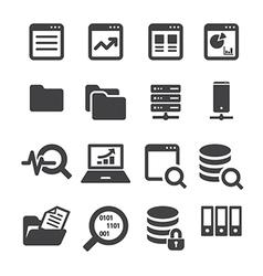 Data icon set vector