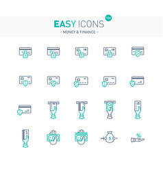 Easy icons 12e money vector