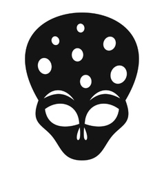 Extraterrestrial alien head icon simple style vector image