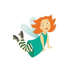fairy cute girl set isolated vector image