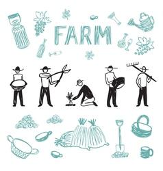 Farm set 4 vector