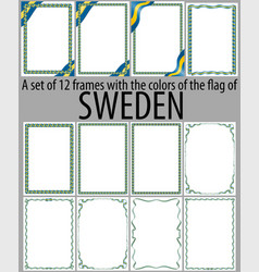 Flag v12 sweden vector
