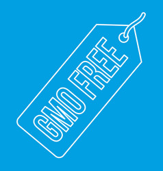 Gmo free label icon outline style vector