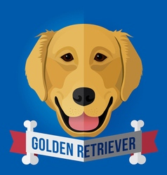 Golden retriever vector