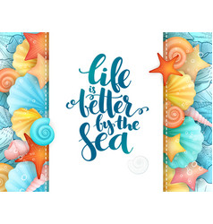 hand lettering poster - vector image vector image