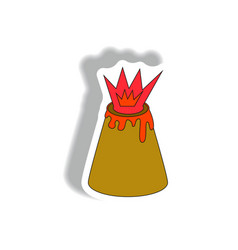 In flat paper sticker design vector