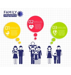 Infographics design with family vector image vector image