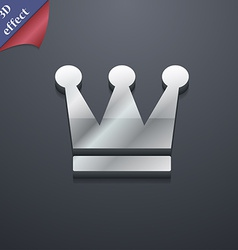 King crown icon symbol 3d style trendy modern vector