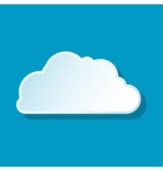 Little cloud icon vector image