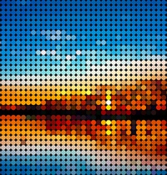 Low poly abstract background Sunset or sunrise vector image
