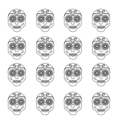 Mexican art skull background vector
