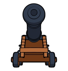 naval cannon view bottom vector image