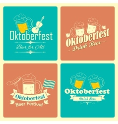 Oktoberfest celebration background vector image vector image