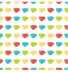 pattern of cup vector image