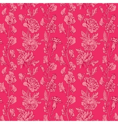 pink flowers 5 380 vector image vector image