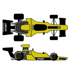 retro formula car vector image