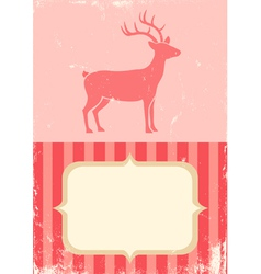 retro of christmas deer vector image