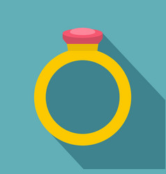 Ring icon flat style vector