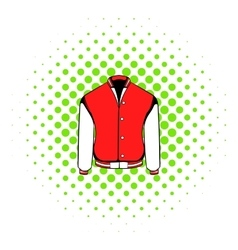 Sport jacket icon comics style vector image vector image