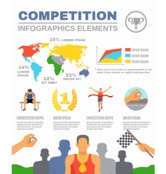 Sports Competition Infographics vector image vector image