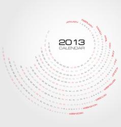 Swirl calendar 2013 vector image vector image