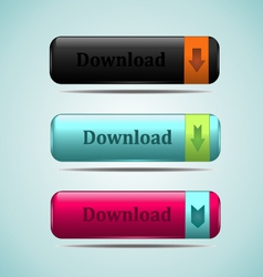 web button download vector image vector image
