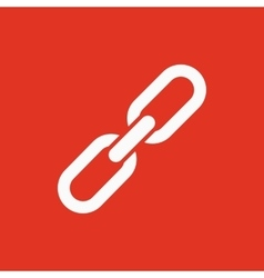 The link icon linked symbol flat vector