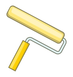 Paint roller icon cartoon style vector image