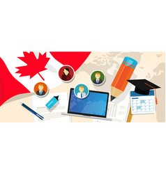 Canada education school university concept with vector