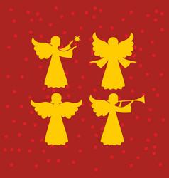 A set of angels vector