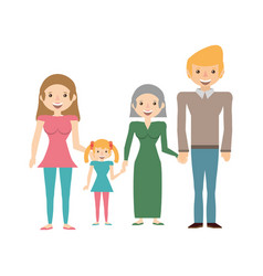 Family portrait relationships vector