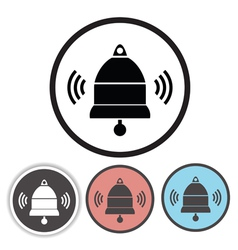 Old bell icons vector