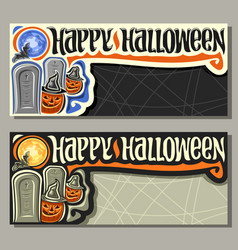 Banners for halloween holiday vector