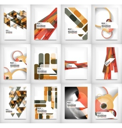 Geometric abstract business template vector