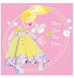 rose flower girl vector image