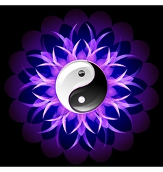 Bright lotus yin yang vector