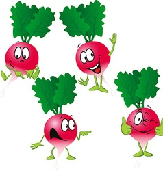 Radish - funny cartoon vector
