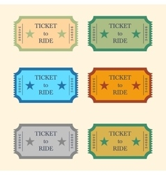 With set of tickets vector