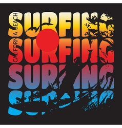 Surfing t-shirt design vector