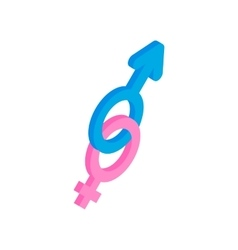 Male and female symbols icon vector image