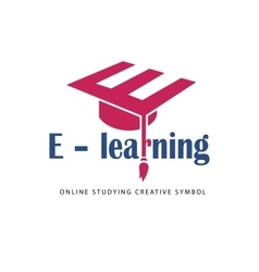 E learning logo template vector